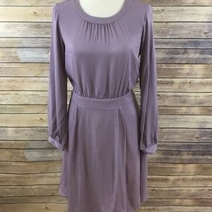 NWT JustFab scoop neck dress in dusty purple. Sz S